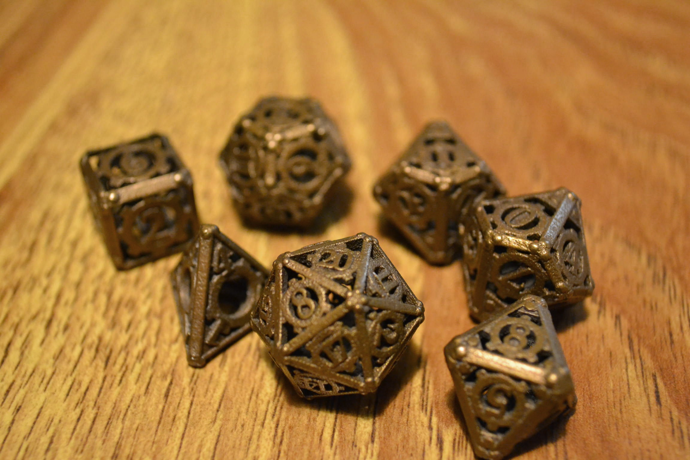 The funky dice used in our Dungeons & Dragons team building sessions