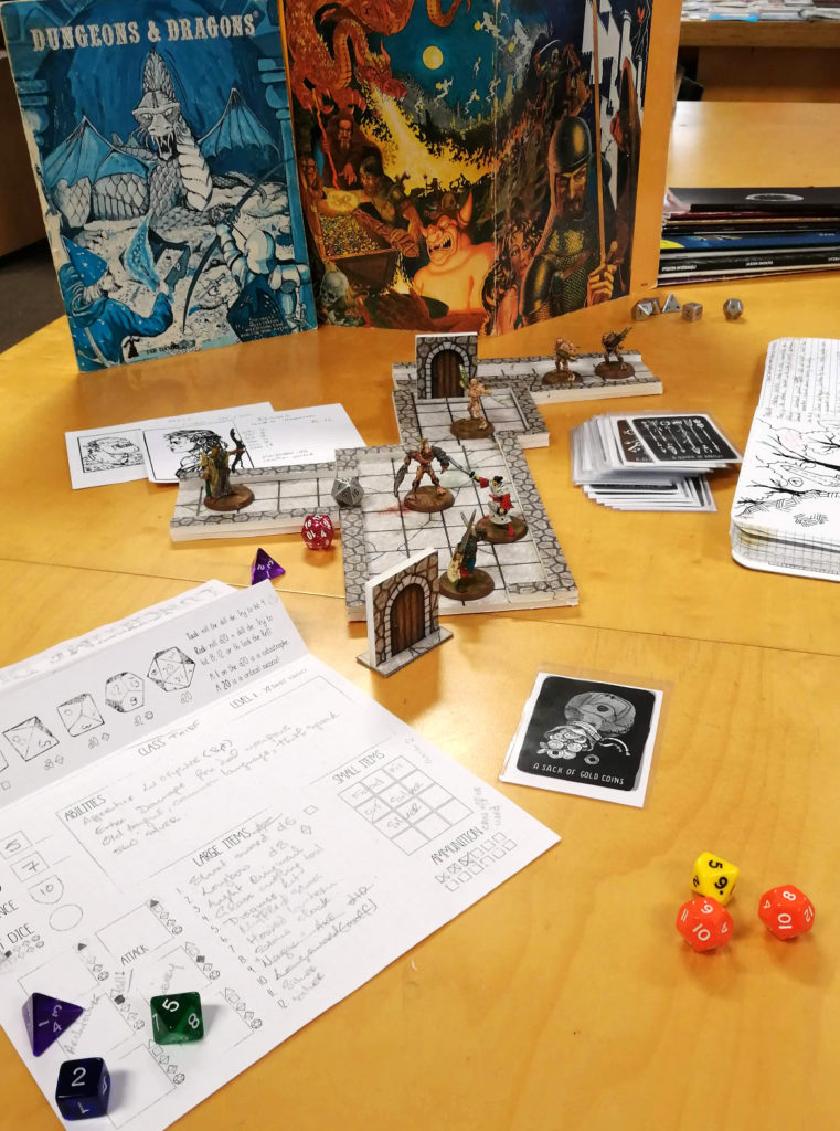 A hard fight is about to break out in a game of Dungeons & Dragons